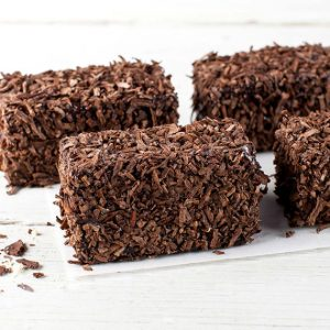 FLOURLESS VEGAN CHOC LAMINGTONS